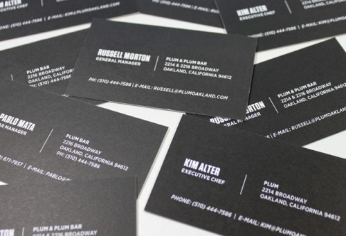 New Plum Business Cards